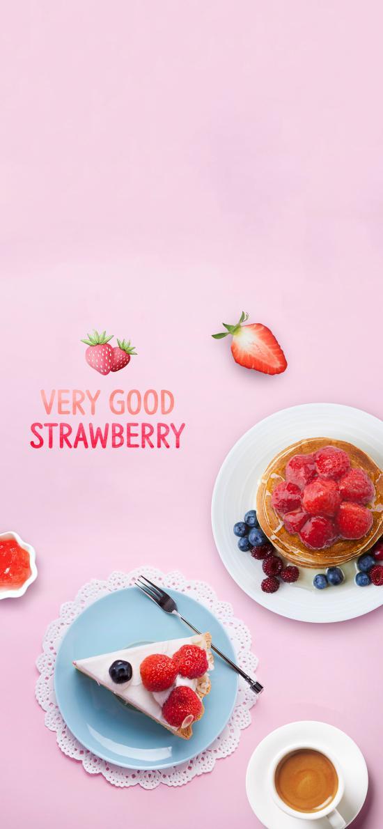 甜品 蛋糕 松饼 水果 草莓 咖啡