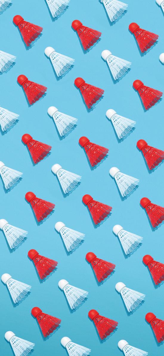 羽毛球 运动 蓝色 排列