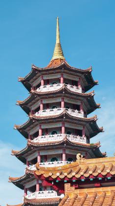 建筑 蓝天 塔楼 高楼