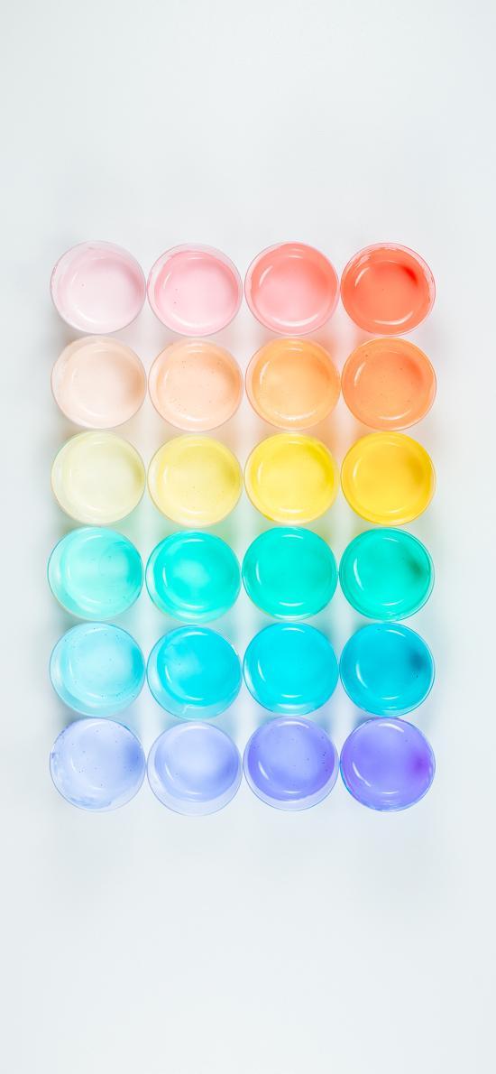 渐变 色彩 颜料 油彩