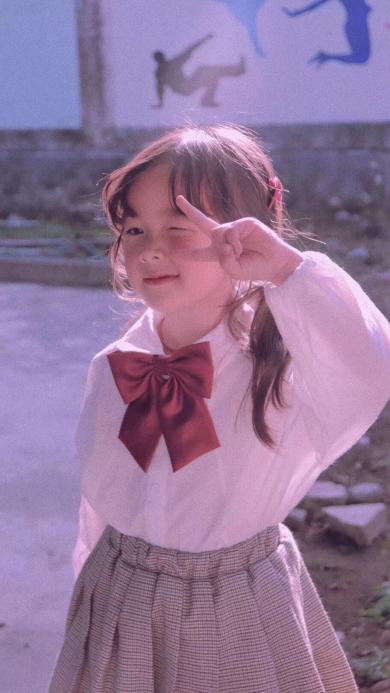 小女孩 写真 可爱 港风滤镜