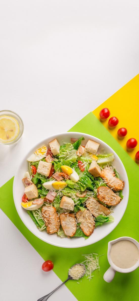 沙拉 轻食 健康 鸡蛋 蔬菜
