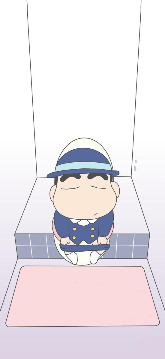 蜡笔小新 日本 动画 校服 厕所