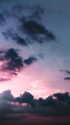 夕阳 天空 渐变 云朵