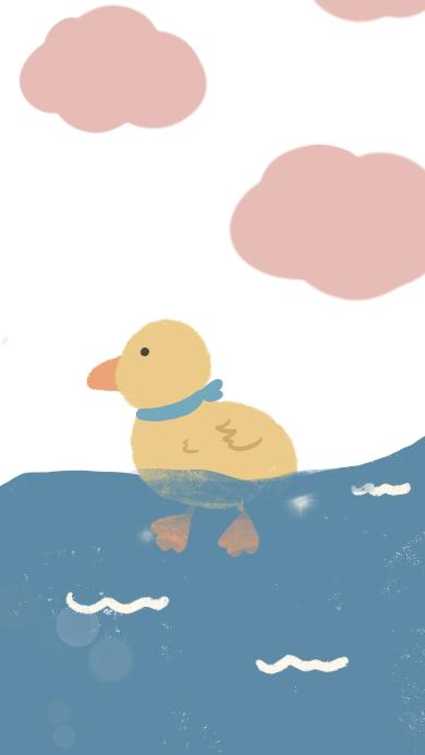 绘画 鸭子 可爱 卡通