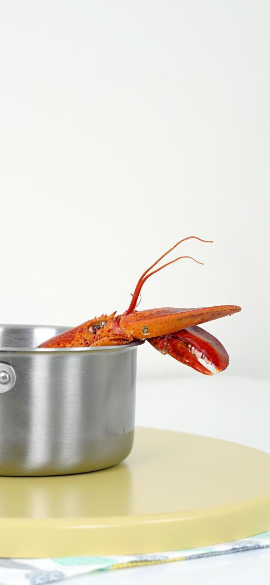 锅具 静物 海鲜 小龙虾