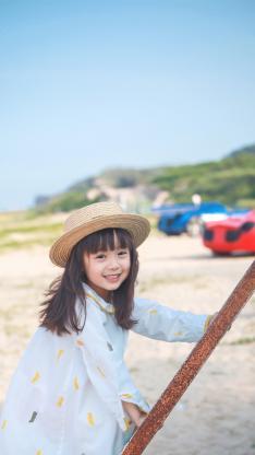 哈琳 出游 帽子 可爱
