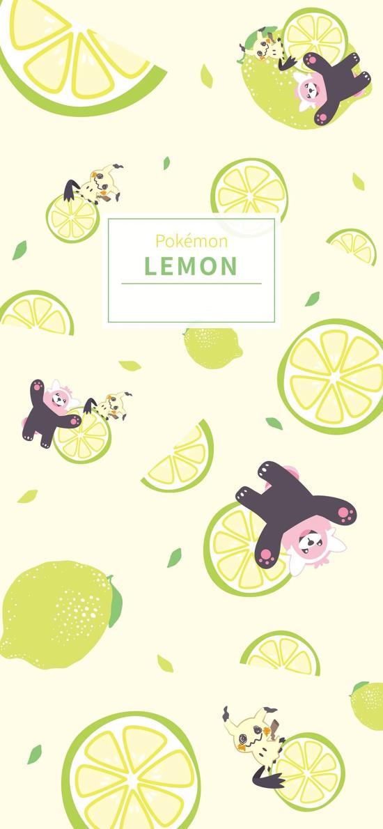 皮卡丘 柠檬 lemon 平铺