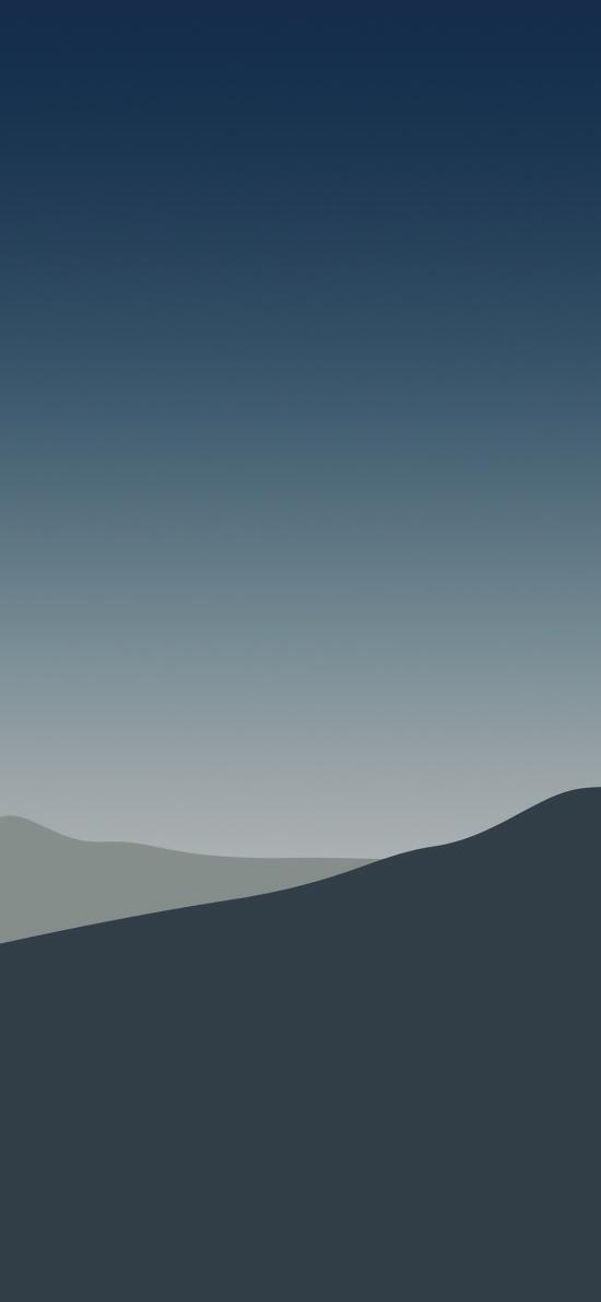 山峦 线条 简约 渐变