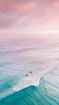 海浪 浪花 大海 天空 云彩