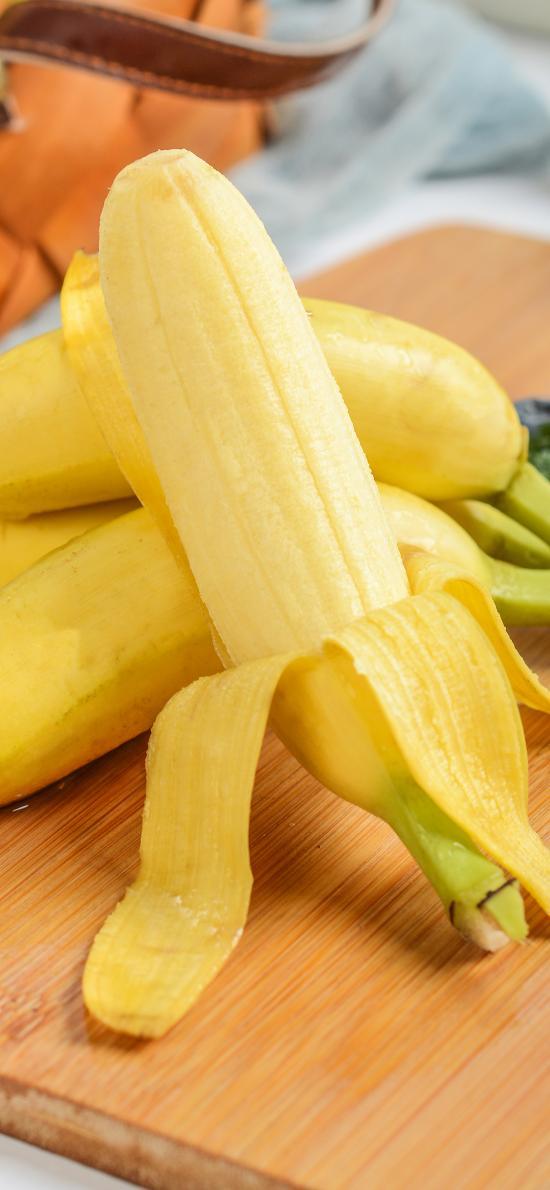 香蕉 水果 新鲜 鲜黄