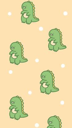 平铺 卡通 小恐龙 可爱