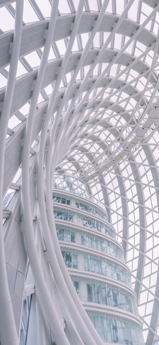 白 钢筋 建筑 设计
