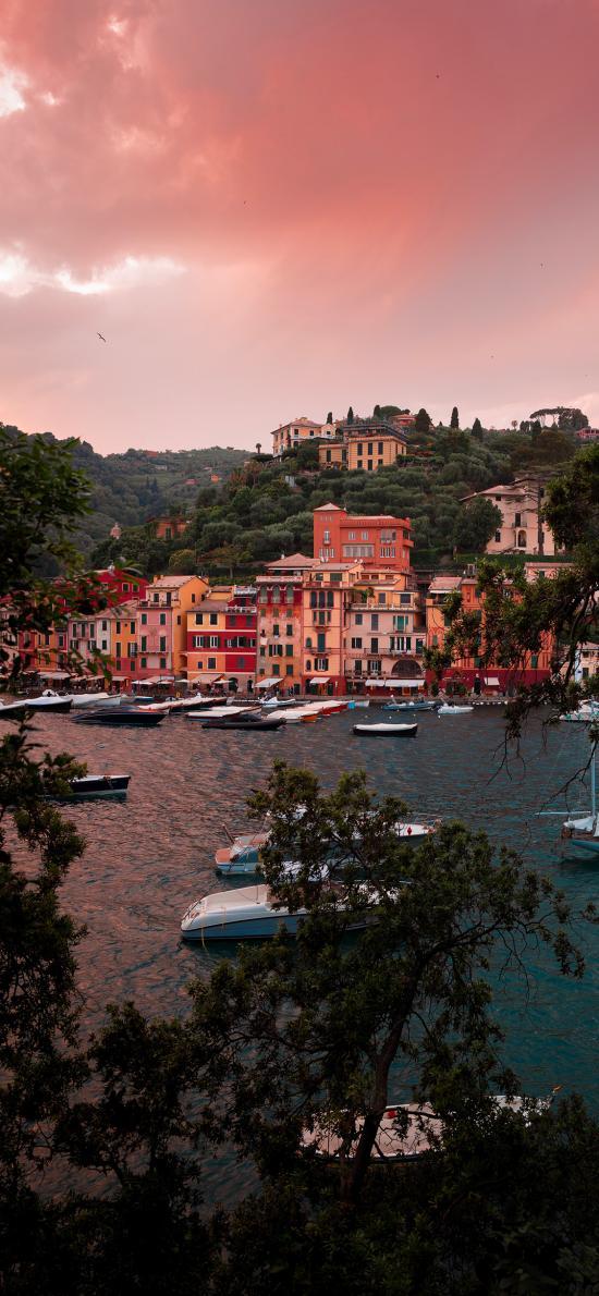 水城 威尼斯 湖泊 小船