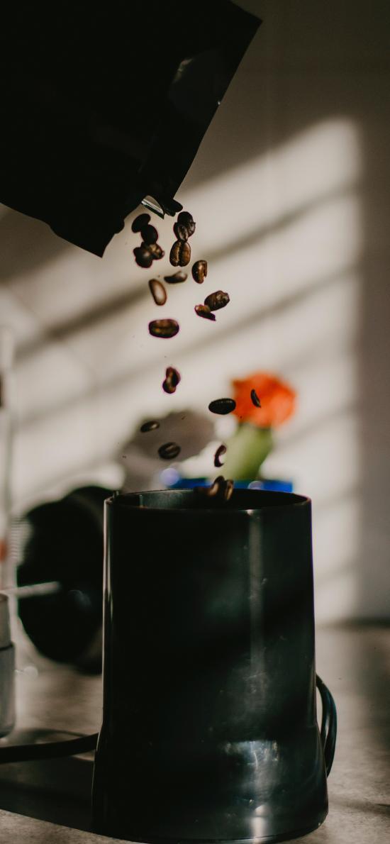 马克杯 材料 咖啡豆 研磨