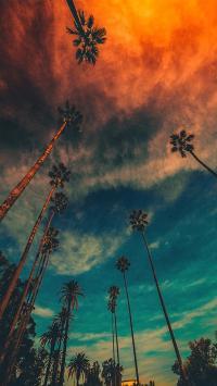 天空 唯美 渐变 夕阳 黄昏