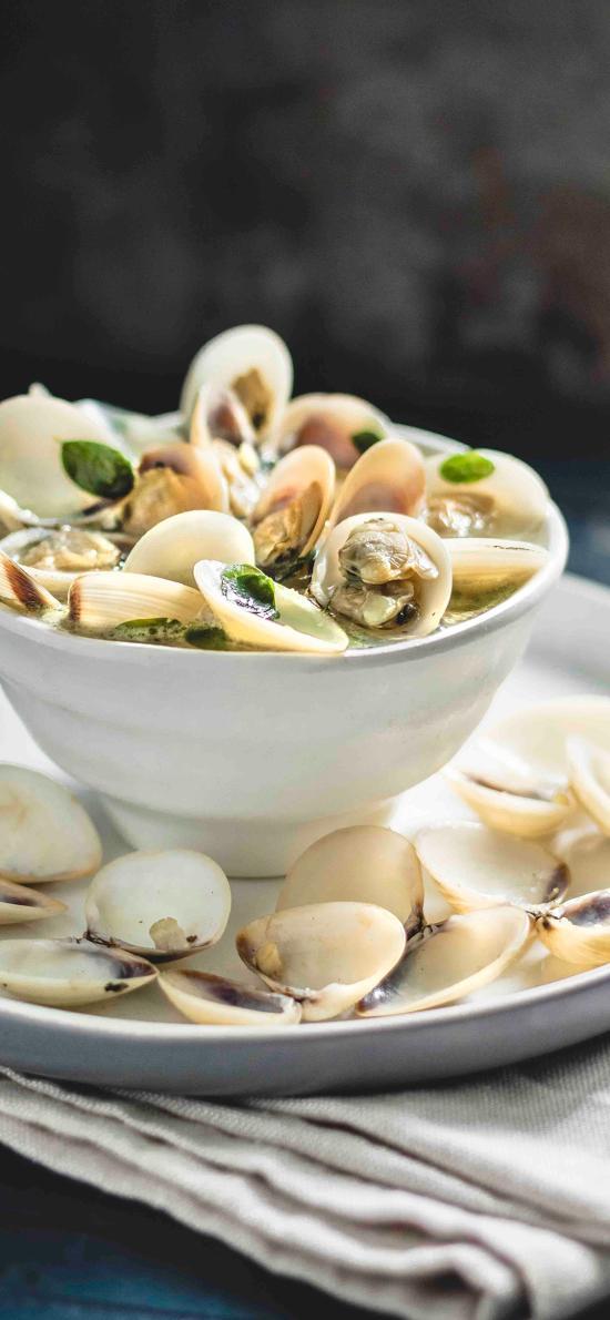 蛤蜊 海鲜 贝壳类 沙白 汤