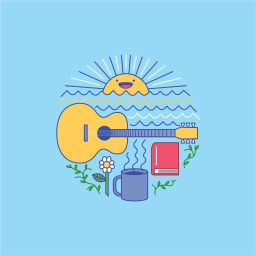 蓝 吉他 太阳 趣味