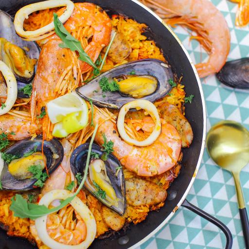 焗饭 海鲜 鱿鱼 虾 青口