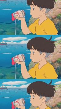 宫崎骏 动漫 悬崖上的金鱼姬 宗介 波妞