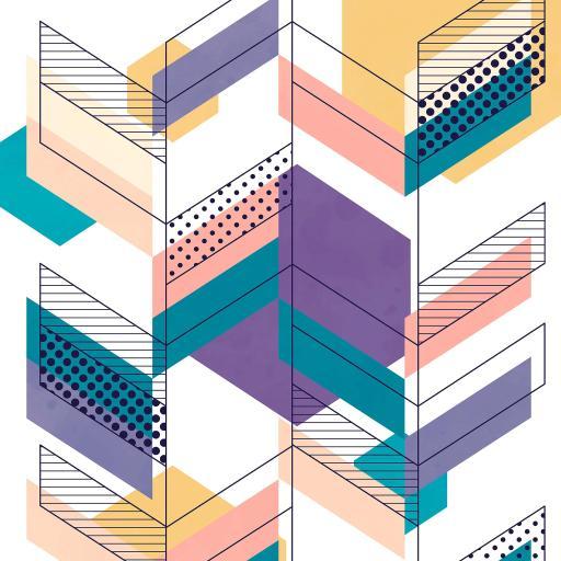 色彩 几何 图形 色块