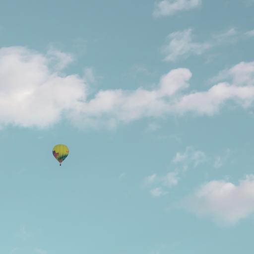 天空 云彩 云层 热气球