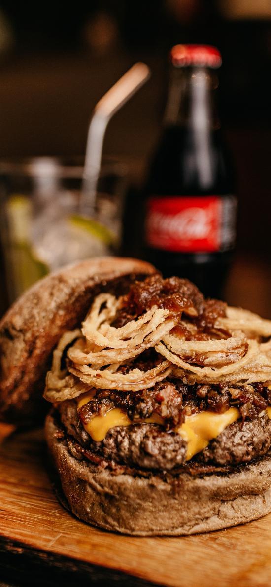 汉堡 肉 案板 快餐