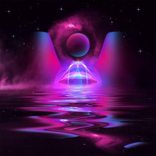 炫彩 奇幻 色彩 紫 迷幻