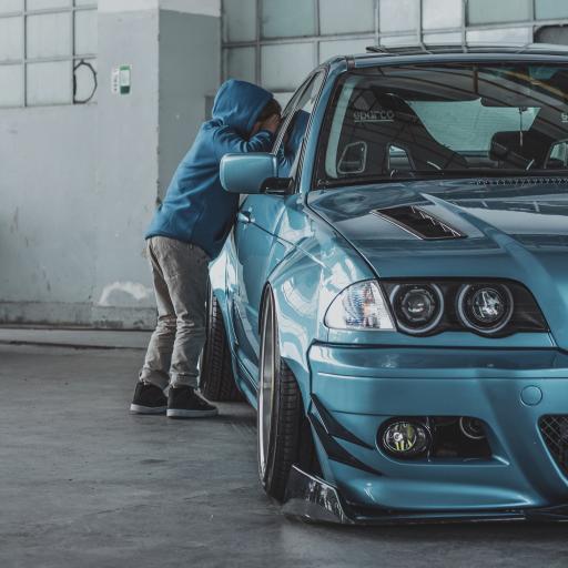赛车 跑车 炫酷 蓝色 孩子
