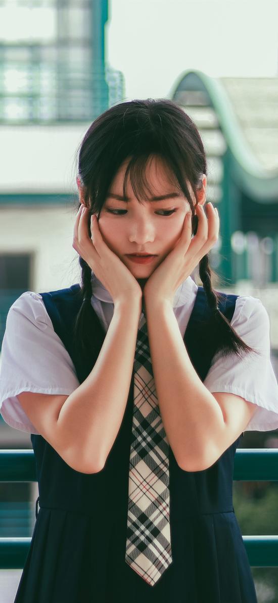 女孩 日系 写真 校服