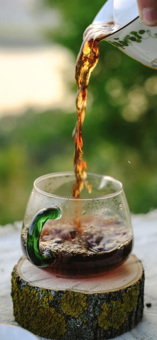 玻璃 杯子 茶水 饮品