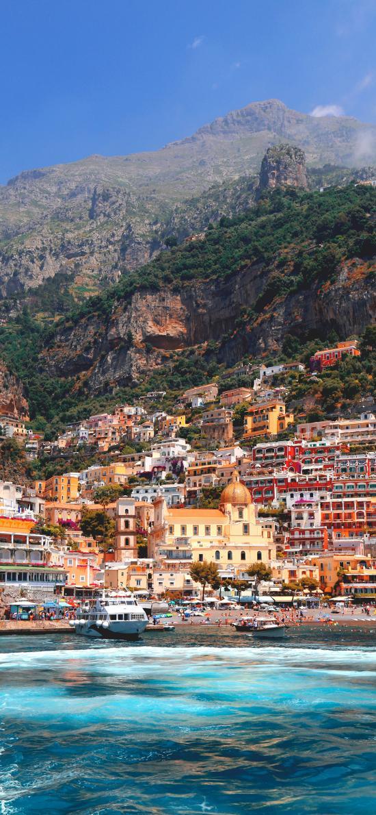 意大利 五渔村 临海 房屋 彩色