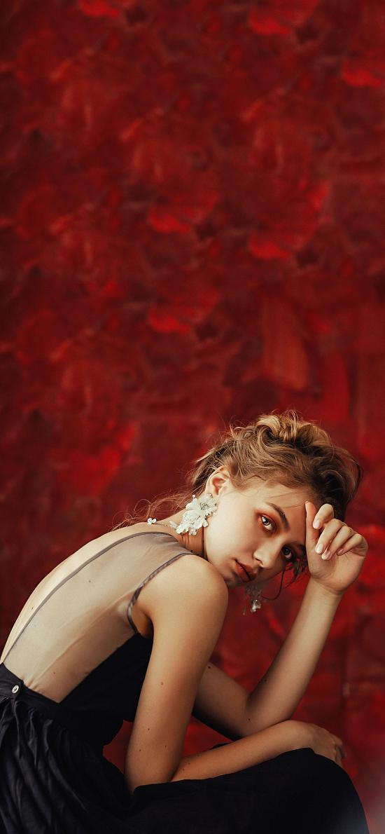 欧美 美女模特 写真 妆容
