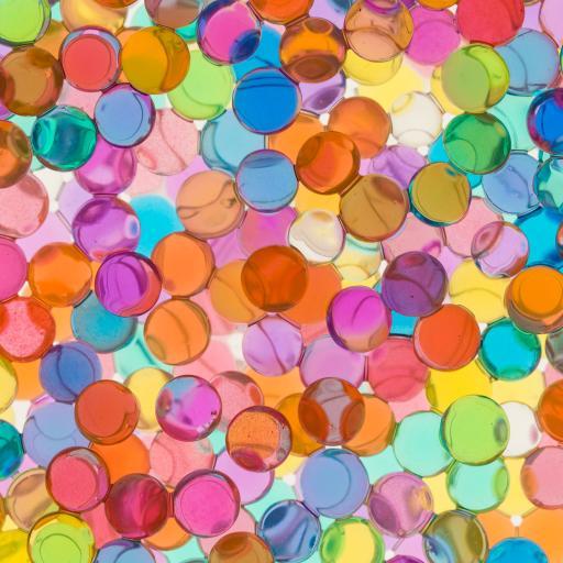 吸水珠 色彩 颗粒 圆珠 密集