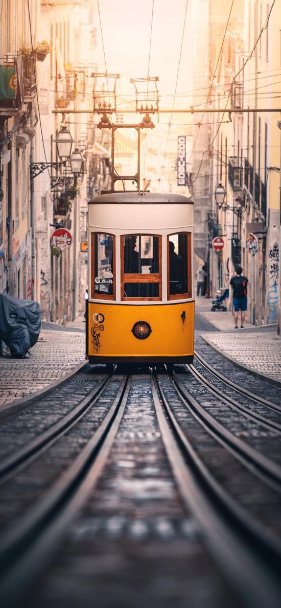 电缆车 城市 行驶 轨道