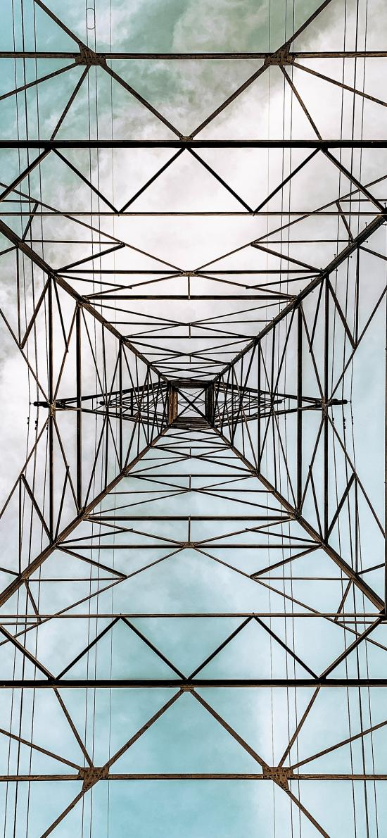 钢铁 电线塔 业务 配电站