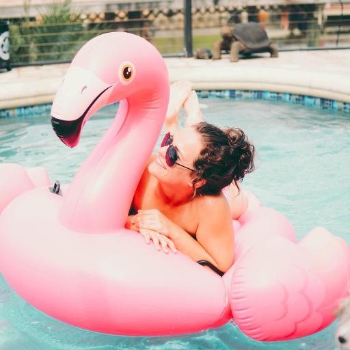 欧美 泳池 火烈鸟 充气