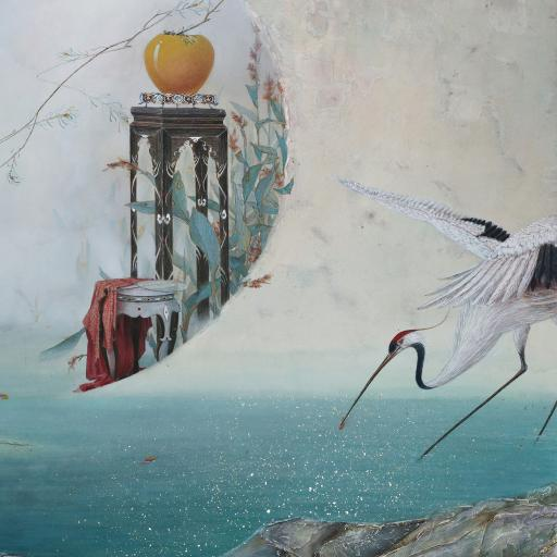 绘画作品 古风 临江仙引图 仙鹤
