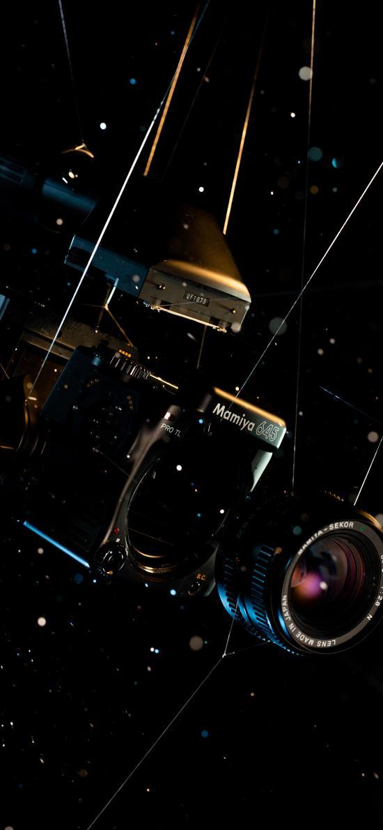 漆黑 摄影机 机器 设备 相机