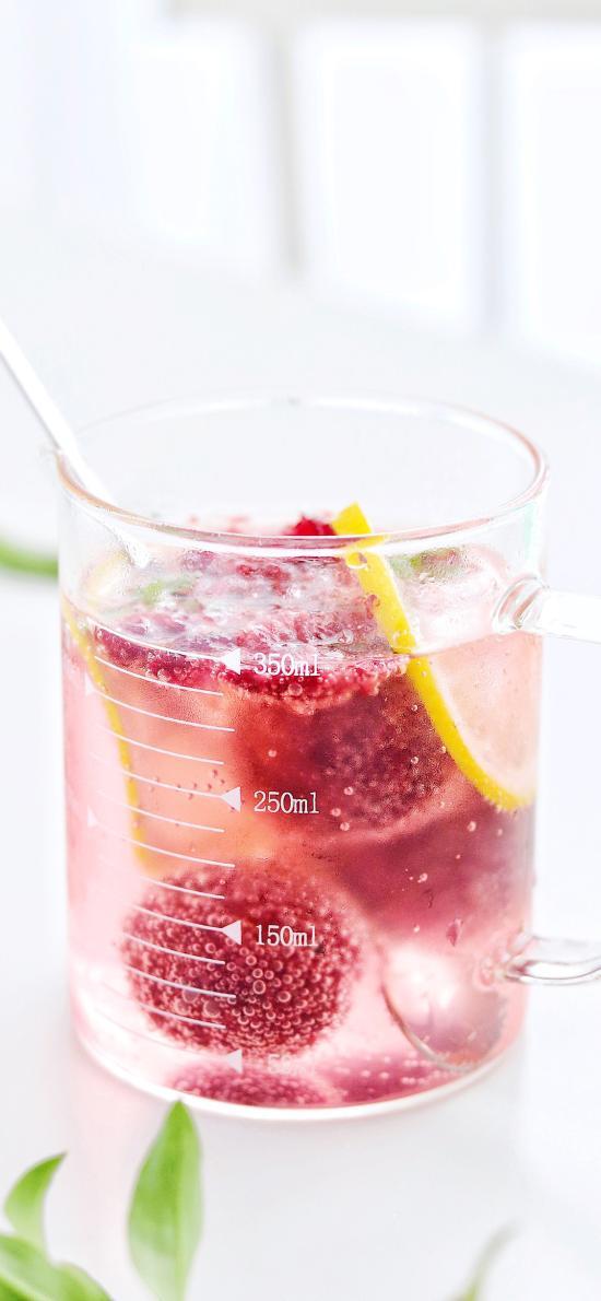 调制 饮品 杨梅 柠檬