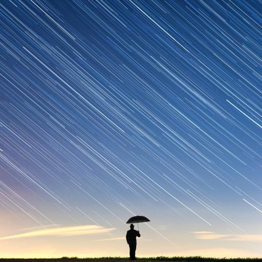 星轨 流行 背影 雨伞