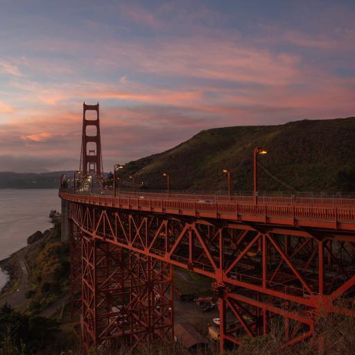 美国 建筑 金山大桥 天空
