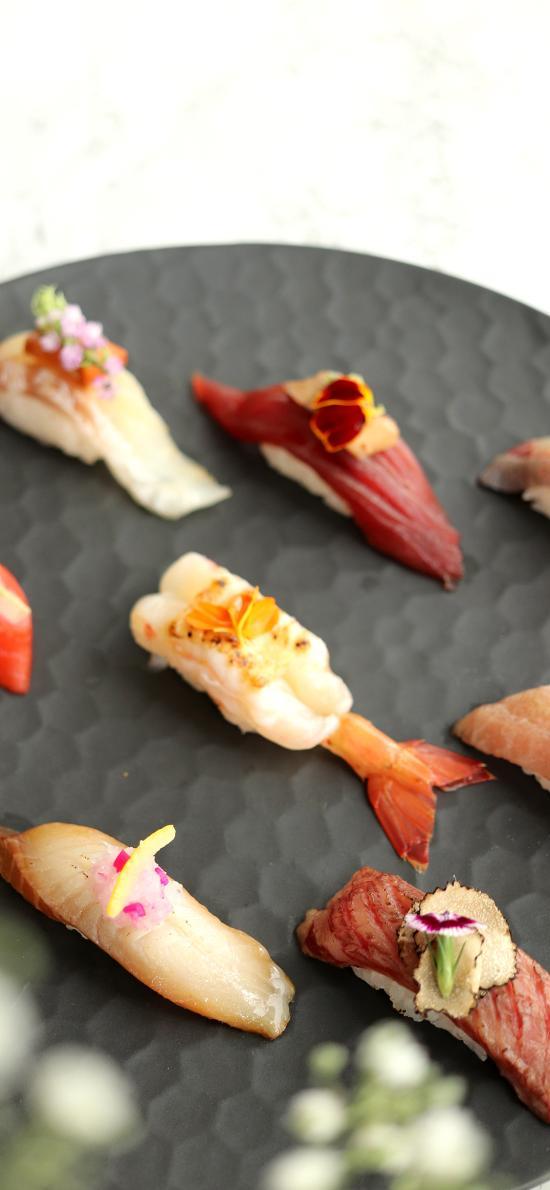 寿司 三文鱼 精致 摆盘