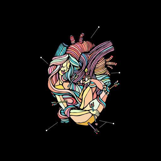 心脏 彩绘 趣味 色彩 抽象