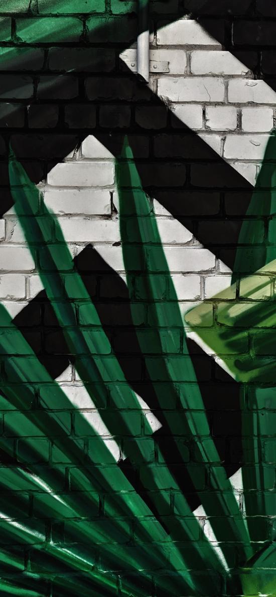 墙绘 绿植 绿色 艺术