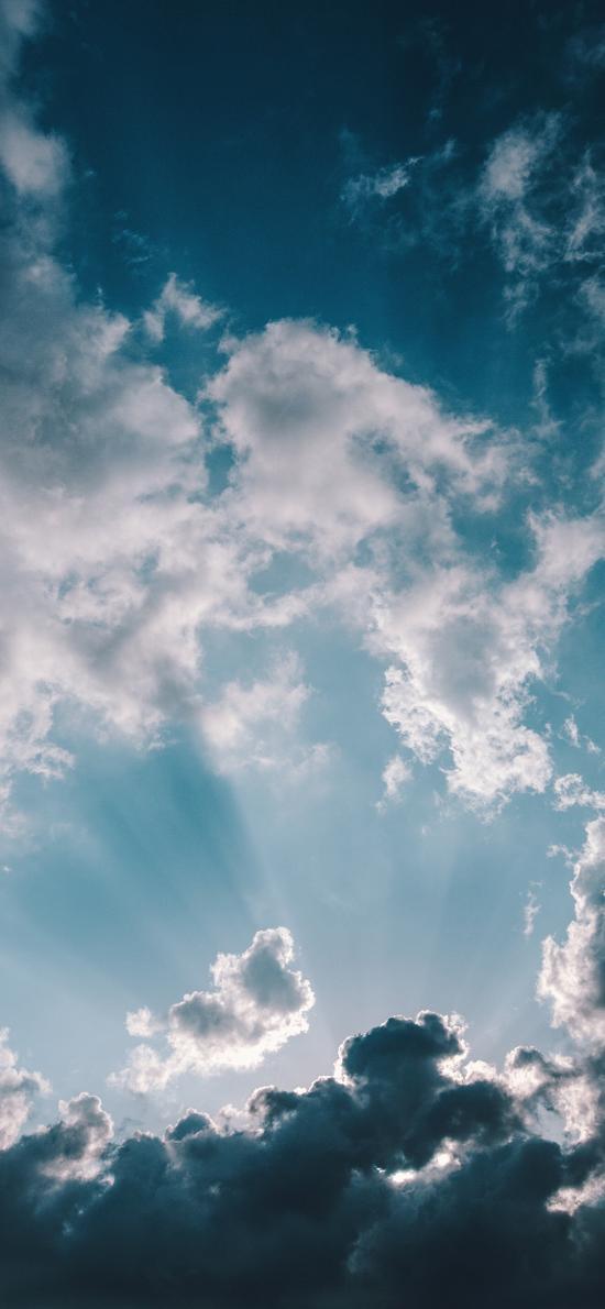 云空 云层 阳光 自然