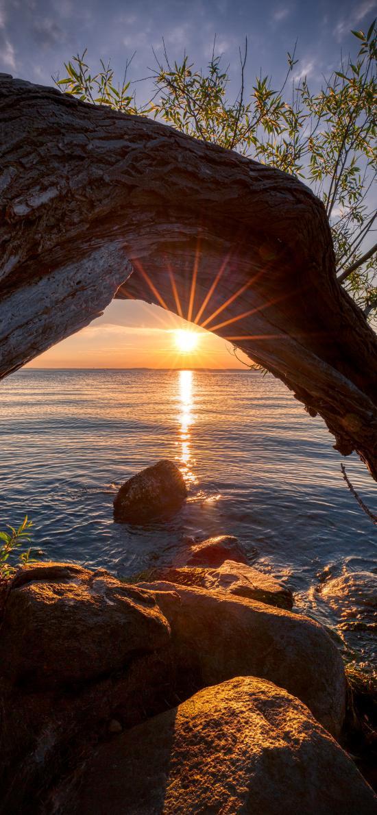 大海 岩石 阳光 自然美景
