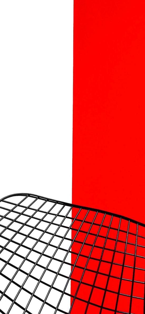 色彩 红白 铁丝网 网格