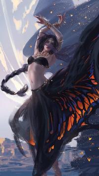 绘画 炫彩 唯美 舞者 性感