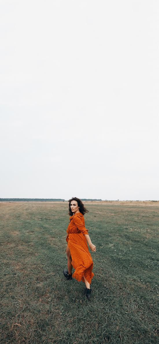 欧美 模特 美女 草地 写真